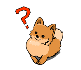 Pomeranian GON sticker #94516