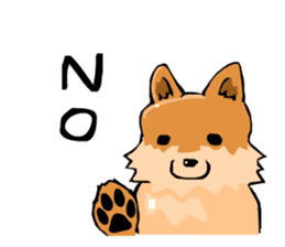 Pomeranian GON sticker #94534
