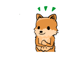 Pomeranian GON sticker #94553