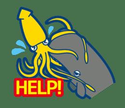 Giant squid & Benthic feeder sticker #94660