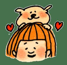 Ponu of puppy sticker #95126