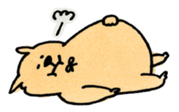 Ponu of puppy sticker #95133