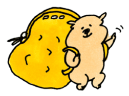 Ponu of puppy sticker #95150