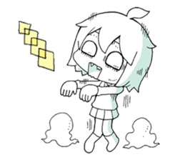 The zombie girl sticker #95646