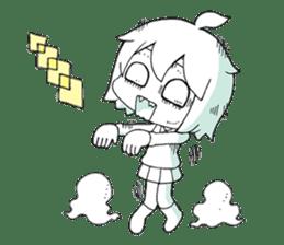 The zombie girl sticker #95646