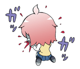 The zombie girl sticker #95648