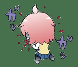 The zombie girl sticker #95648