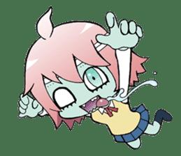 The zombie girl sticker #95650