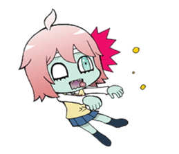 The zombie girl sticker #95653