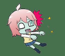 The zombie girl sticker #95653