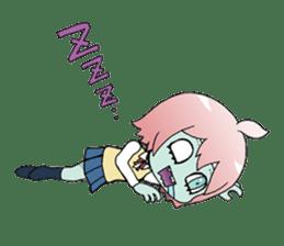 The zombie girl sticker #95655