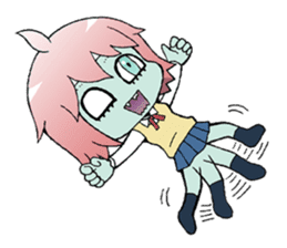 The zombie girl sticker #95658