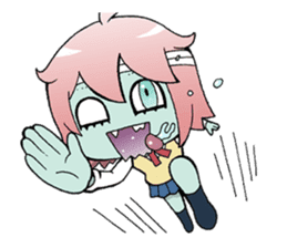The zombie girl sticker #95667
