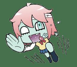 The zombie girl sticker #95667