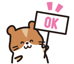 Cute hamster ! sticker #96160