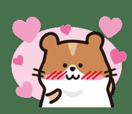 Cute hamster ! sticker #96179