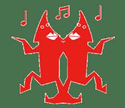 Mr red arrow sticker #96676