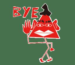 Mr red arrow sticker #96683