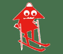 Mr red arrow sticker #96708
