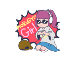 MOKUGYO-GIRL sticker #96756