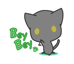 Black Cat sticker #97604