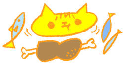 FUNNY CAT TORO sticker #97820