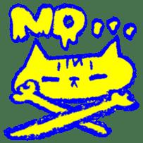FUNNY CAT TORO sticker #97825