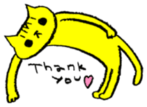 FUNNY CAT TORO sticker #97827