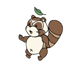 Little Kitsune and Tanuki ~ Gon & Pon ~ sticker #98480