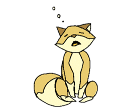 Little Kitsune and Tanuki ~ Gon & Pon ~ sticker #98487