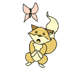 Little Kitsune and Tanuki ~ Gon & Pon ~ sticker #98489