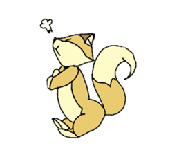 Little Kitsune and Tanuki ~ Gon & Pon ~ sticker #98490