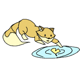 Little Kitsune and Tanuki ~ Gon & Pon ~ sticker #98491