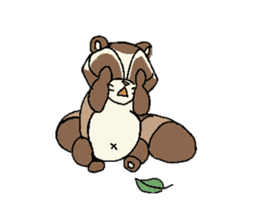 Little Kitsune and Tanuki ~ Gon & Pon ~ sticker #98500