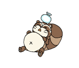 Little Kitsune and Tanuki ~ Gon & Pon ~ sticker #98501