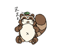 Little Kitsune and Tanuki ~ Gon & Pon ~ sticker #98502