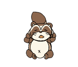 Little Kitsune and Tanuki ~ Gon & Pon ~ sticker #98505