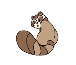 Little Kitsune and Tanuki ~ Gon & Pon ~ sticker #98507