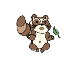 Little Kitsune and Tanuki ~ Gon & Pon ~ sticker #98509