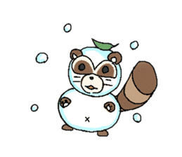 Little Kitsune and Tanuki ~ Gon & Pon ~ sticker #98511