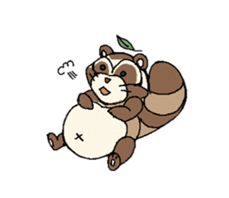 Little Kitsune and Tanuki ~ Gon & Pon ~ sticker #98512