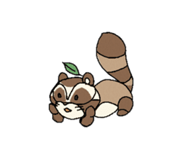 Little Kitsune and Tanuki ~ Gon & Pon ~ sticker #98513