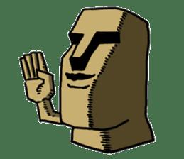 Moai-kun sticker #98796