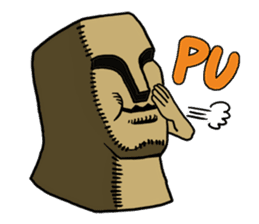 Moai-kun sticker #98814