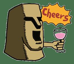 Moai-kun sticker #98820