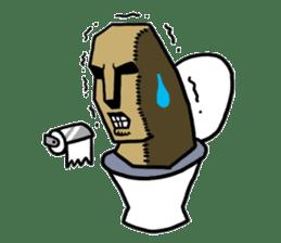 Moai-kun sticker #98832