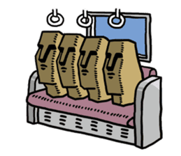 Moai-kun sticker #98834