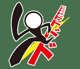 Stylish! Bouningen (Stick-man) sticker #99346