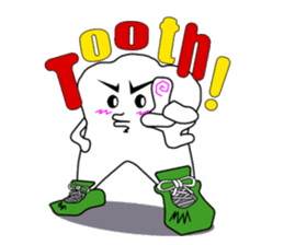 Crazy Tooth (tooth family) sticker #100156