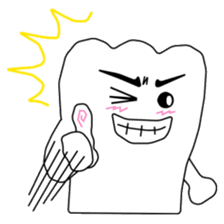 Crazy Tooth (tooth family) sticker #100158